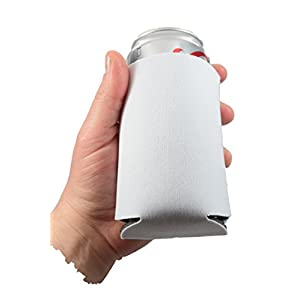 QualityPerfection 25 White Party Drink Blank Can Coolers(12 or 25 Bulk Pack)Blank Beer and Soda Coolies Sleeves Soft, Insulated Coolers 16 Colors Perfect For DIY Projects,Holidays,Parties,Events