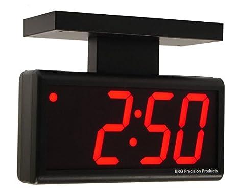 Doble-cara 10,16 cm rojo 4 dígitos Ethernet reloj de pared Digital LED: Amazon.es: Hogar