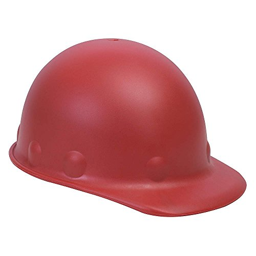 Fibre-Metal Hard Hat P2AW15A000 Red Roughneck Fiberglass Cap Style Hard Hat with Tab Lok Super Eight 8 Point Pinlock Suspension and S-2F Headband, 7.3