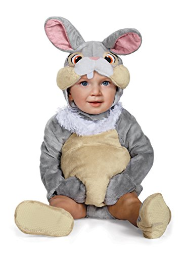 Disney Baby Thumper Deluxe Infant Costume, Gray, 12 to 18 (Baby Girl Bunny Costume)