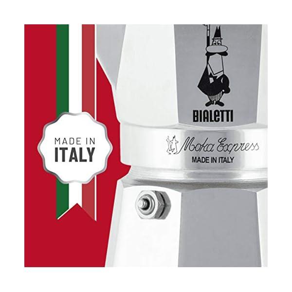 Bialetti Moka Express Caffettiera in Alluminio, Argento, 2 Tazze 4 spesavip