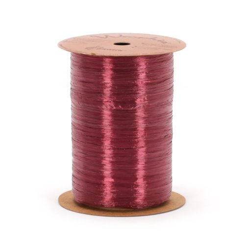(Berwick Offray Wine Red Pearlized Raffia Ribbon, 1/4'' Wide, 100 Yards)