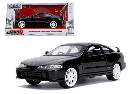 Type Integra R Jdm Honda - New DIECAST Toys CAR JADA 1:24 W/B - Metals - JDM Tuners - 1995 Honda Integra Type-R (Japan SPEC) Black 30930