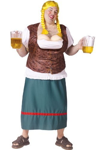 Men's Bavarian Beauty Beer Girl Adult Costume