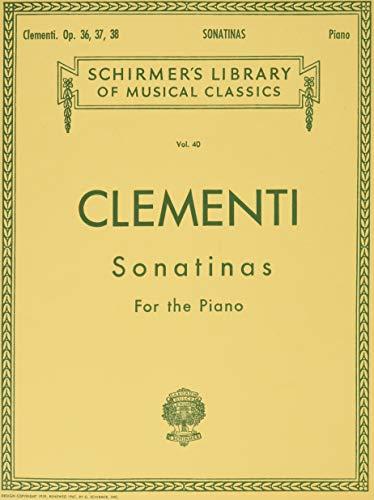 Clementi: Sonatinas, Op. 36, 37, 38 (Schirmer's Library of Musical Classics, Vol.40)