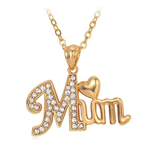 U7 Mothers Jewelry Rhinestones Necklace