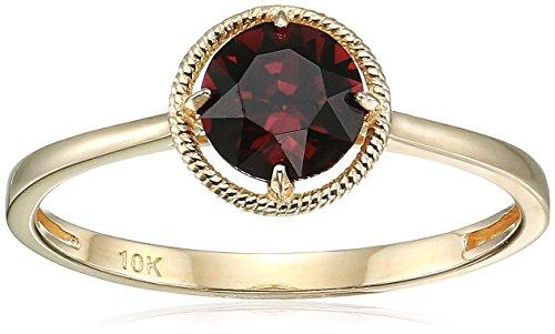 January Birthstone Ring - 10k Gold Swarovski Crystal January Birthstone Ring, Size 8