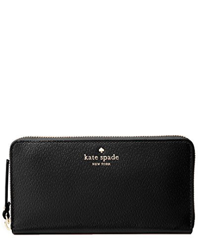 Kate Spade New York Grand Street Lacey Leather Wallet (Black) by Kate Spade New York