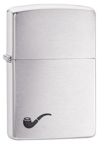 Zippo Pipe Lighter, Brushed Chrome