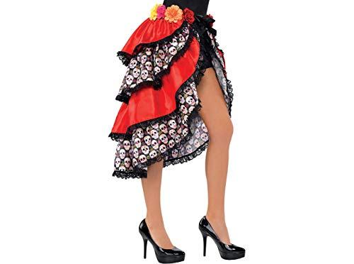 AMSCAN Tie-On Day of the Dead Bustle Costume Accessory for Women, One Size -