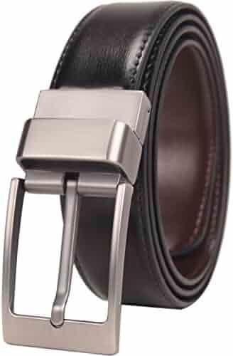 Beltox Fine Men's Dress Belt Leather Reversible 1.25
