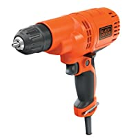 BLACK+DECKER Corded Drill, 5.2-Amp, 3/8-Inch (DR260C)