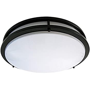 low profile kitchen lighting getinlight led flush mount ceiling light 18 inch 30w 7199