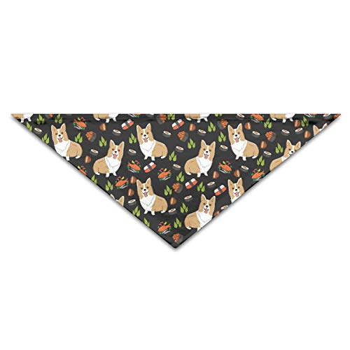 OLOSARO Dog Bandana Corgi and Sushi Triangle Bibs Scarf Accessories for Dogs Cats Pets Animals ()