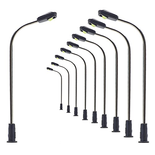 LQS05 10pcs Model Railway Train Lamp Post Street Light Bright Cool N Z Scale LEDs NEW from Evemodel