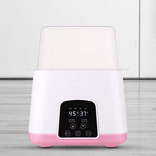Shumo Chauffe-Biberon LED Affichage en Temps R/éel Du R/éChauffement Rapide Prise Europ/éEnne Bouteille Vapeur St/éRilisateur 4-En-1 Smart Thermostat Double Biberon Chauffe-Alimentation