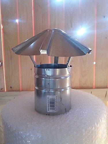 Humo Tubo de 120 mm Lluvia Tapa de chapa de acero galvanizado Horno Tubo de escape