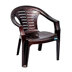 Nilkamal 2155 Plastic Chair (Brown, Set of 2)