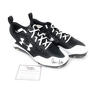 Aaron Judge New York Yankees Signed Autograph Under Armour Cleats MLB & Fanatics Authentic Certified