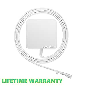 "Coreykin Replacement Macbook Charger 60w Magsafe L-Tip Power Adapter Charger for Apple Macbook Pro 13.3"" Retail Package"