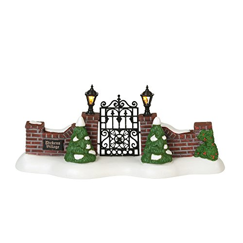 Department 56 Dickens Village Accessories Entry Gate Lit Figurine 3