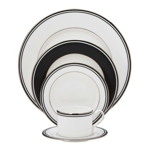 Lenox Federal Platinum 5-Piece Place Setting, Black ()
