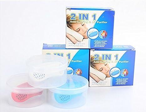 MEYLEE 2 en 1 Anti ronquido purificador de aire - Snore Aids Nose ...