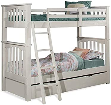 Ne Kids Highlands Harper Twin Over Full Bunk Bed With Trundle White Finish Kids Furniture Home Kitchen Fcteutonia05 De