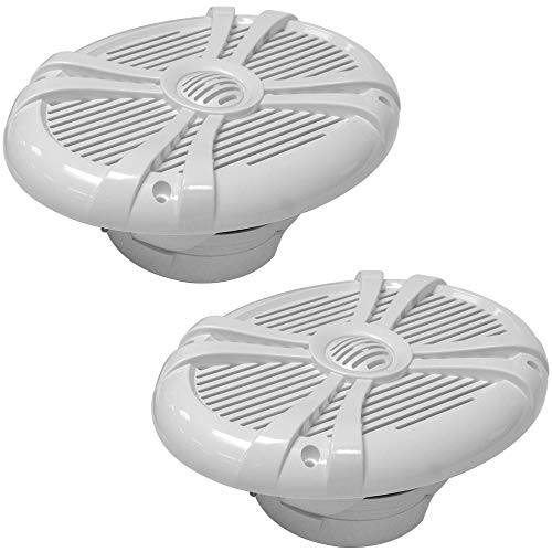 Seismic Audio - SA-MS69W - Pair of 500 Watt White 6x9 Inch 2-Way Waterproof Boat/Marine Speakers - 1000 Watt Marine Speaker System