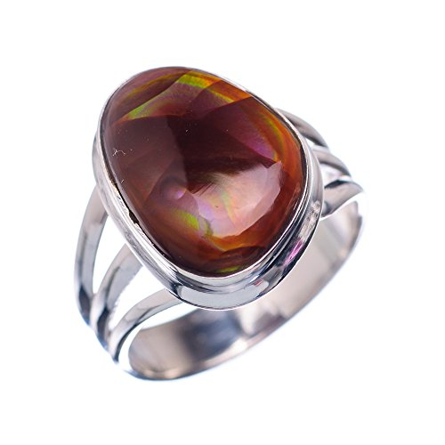 Ana Silver Co Rare Mexican Fire Agate 925 Sterling Silver Ring Size 8.75 - Handmade Fashion Gemstone Jewelry RING850794