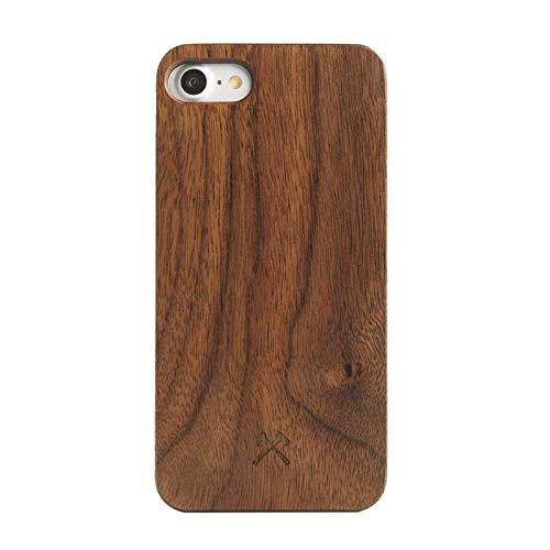 (Woodcessories - EcoCase Classic - iPhone 7, 8 Wooden Case, Cover, Protection of Real, FSC cert. Wood, Premium, Design (Walnut/Black))