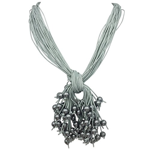 (Simulated Pearl Cluster Multi Cord Layered Necklace (Grey))