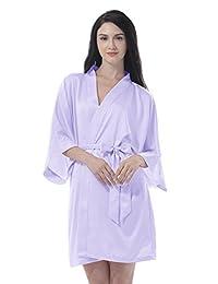 Remedios Kimono Robe Bridesmaid Satin Robes Silk Sexy Wedding Nightgown XS-XXL
