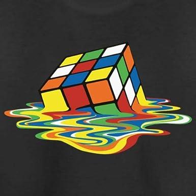 Spreadshirt Melting Rubiks Magic Cube Kids T-Shirt