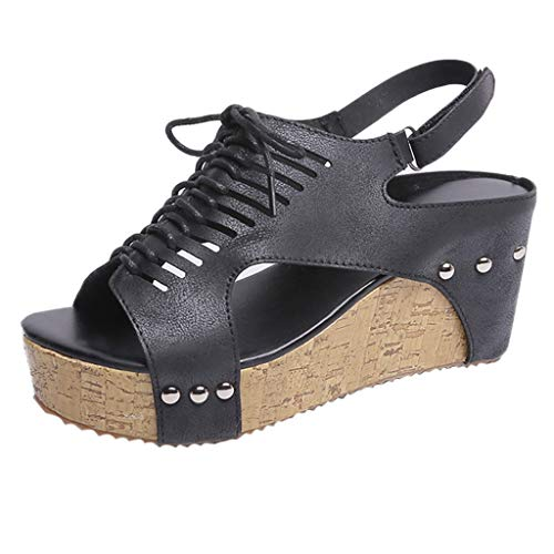 Moda Open De Impermeable Toe Negroc Gran Plataforma Zapatos 2019 Sandalias  Pescado Mujeres Fiesta Boca Mujer Zarlle Cuña Verano ... 1c093ac4a584