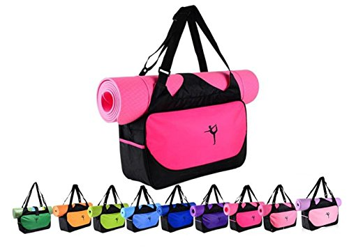 IEase Yoga Bag for Mat and Blocks Multifunctional Yoga Mat Tote Bags Lightweight Durable Gym Bag Sports Bag Pilates Yoga Shoulder Bag Waterproof Case Bag Carriers