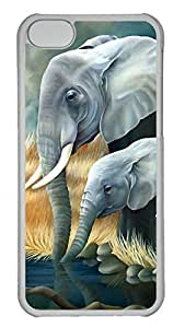 LJF phone case Apple iphone 6 4.7 inch Case - Elephant Funny Lovely Best Cool Customize iphone 6 4.7 inch Cover