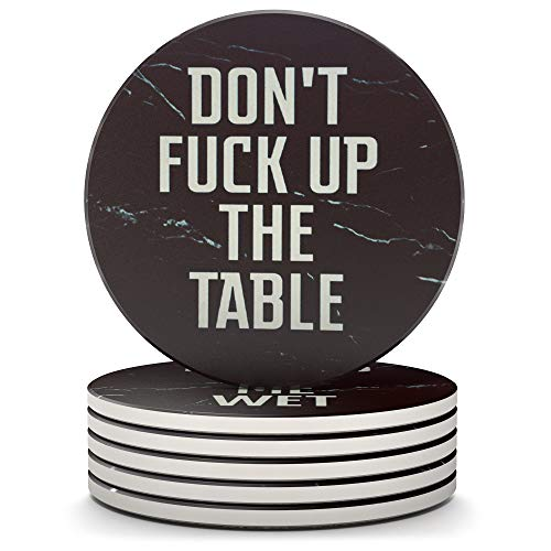 Clever & Funny Coasters for drinks Absorbent with holder