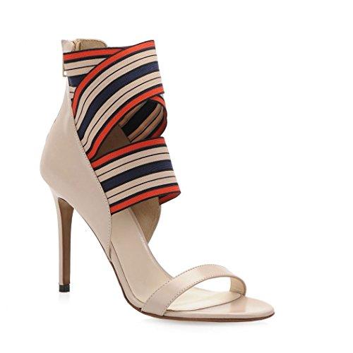 Pinko Ladies 1h20fyy4e8o52 Sandali In Pelle Beige