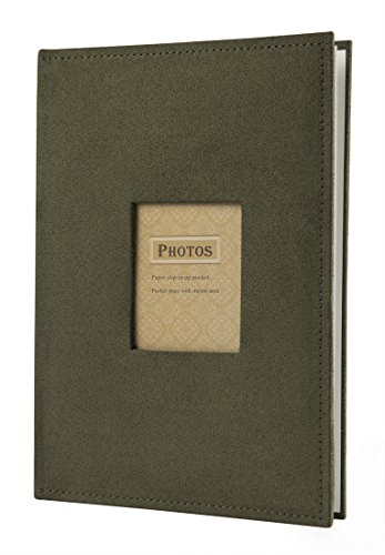 4x6'' Holds 300 Photos with Memo Area & Fabric Cover (Green) (6 X 4 Album)