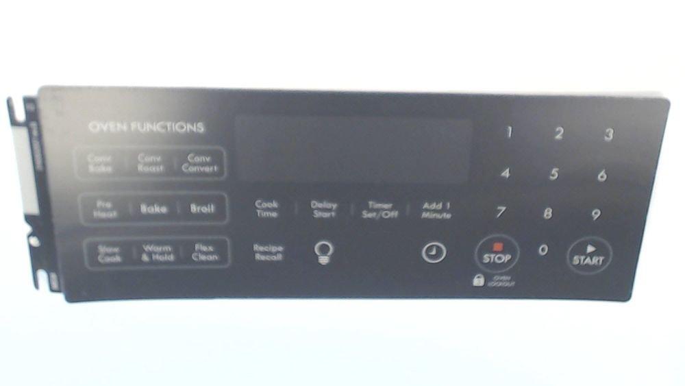 316352207 Range Oven Control Overlay Genuine Original Equipment Manufacturer (OEM) Part Black