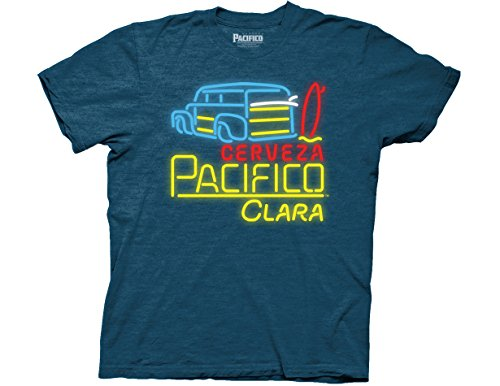 ripple-junction-pacifico-woodie-surfboard-neon-sign-adult-t-shirt-xl-ocean-teal