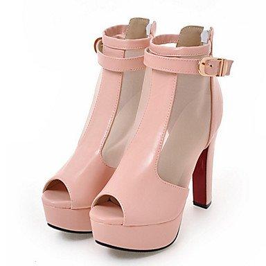 RTRY Zapatos De Mujer Brillante Glitter Net Moda Otoño Invierno Confort Novedad Botas Botas Bota Chunky Talón Peep Toe Botines/Botines De Us7.5 Zipper Negro / Ue38 / Uk5.5 / Cn38 Black|US7.5 / EU38 / UK5.5 / CN38