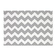 CafePress - Gray Chevron Stripes - Decorative Area Rug, 5'x7' Throw Rug