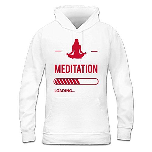 Sudadera con capucha de mujer Meditation Loading by Shirtcity Blanco