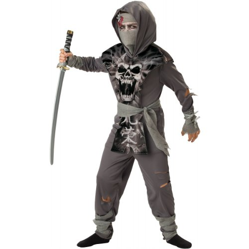 InCharacter Costumes Boys 8-20 Zombie Ninja Costume,  Gray, X-Large ()