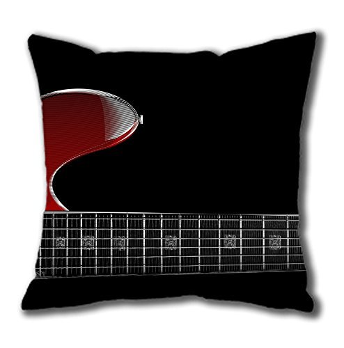 Price comparison product image Zoom Red Guitar Easter Thanksgiving Personlized Thanksgiving Easter Masterpiece Limited Design Cotton Square Pillow Case by Cases & Mousepads