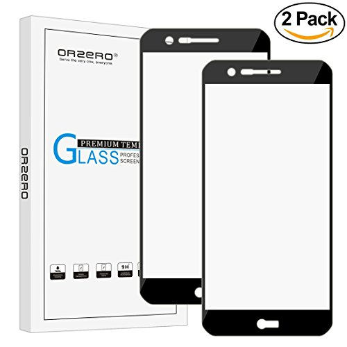 [2 Pack] Orzero For LG K20 Plus / K20 V / K20V ( Verizon ) / V5 / LG Harmony / K10 (2017 version ) [ Full Coverage ] Tempered Glass Screen Protector, HD Anti-Scratch [ Lifetime Replacement Warranty ]