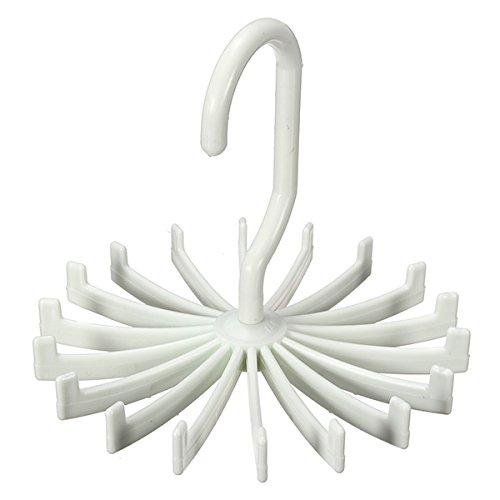 30%OFF Rotating Tie Rack Adjustable Scarves Storage Holders Silk Scarf Organizer Hanger