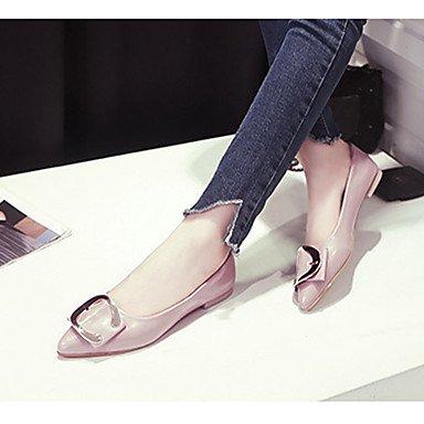 Cómodo y elegante soporte de zapatos de mujer Pisos Pisos caída patente cuero oficina & carrera soporte de tacón con lazo negro/verde/rosa otros rosa